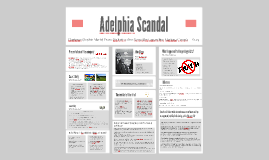 the adelphia scandal Restoring trust in auditing: ethical discernment and the adelphia scandal restoring trust in auditing: ethical discernment and the adelphia scandal author(s):.