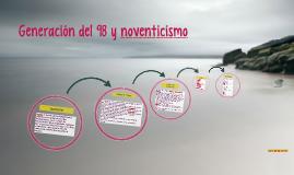 Generación del 98 y noventicismo