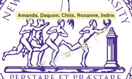 Amanda, Daquon, Chris, Roxanne, Indris