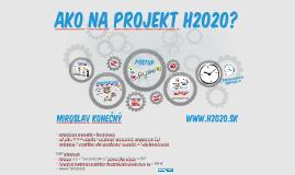 Ako na projekt H2020?
