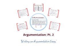 E155 - Argumentative Essay