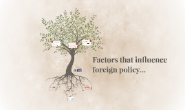 Factors that influence foreign policy...