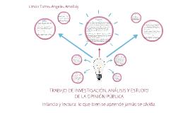 TRABAJO DE INVESTIGACIÓN, ANÁLISIS Y ESTUDIO DE LA OPINIÓN P