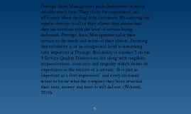 Service Marketing Strategy for Prestige Asset Management