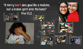 """A merry heart does good like a medicine, but a broken spiri"