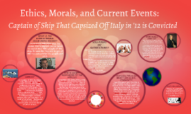 Ethics, Morals, and Current Events
