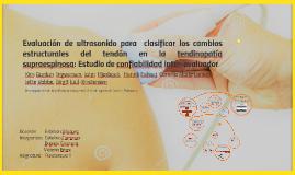 Evaluación de ultrasonido para  clasificar los cambios estru