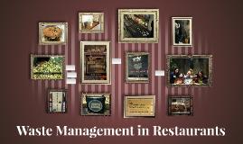 Waste Management in Restaurants
