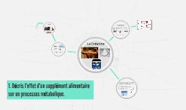 Decris l'effet d'un supplement alimentaire sur un processus