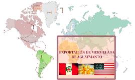 EXPORTACION DE MERMELADA DE AGUAYAMNTO