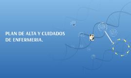 PLAN DE ALTA Y CUIDADOS DE ENFERMERIA.