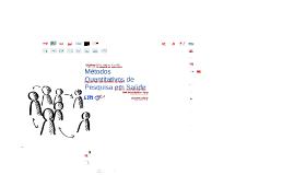 Métodos quantitativos de pesquisa em saúde