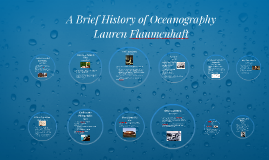A brief history of oceanography