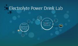 Electrolyte Power Drink Lab