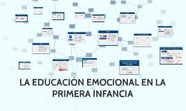 LA EDUCACIÓN EMOCIONAL EN LA PRIMERA INFANCIA