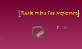 basic rules of exponents
