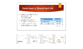 SharePoint Lesson #66: SharePoint Lists in PowerPoint