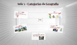 Aula 5 - Categorias da Geografia e Indicadores