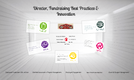 Director, Fundraising Best Practices & Innovation