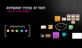 DIFFERENT TYPeS OF TESTS