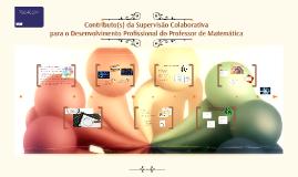 Contributo(s) da Supervisão Colaborativa para o Desenvolvime