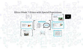 2016 Ethics Week 7: Ethics with special populations