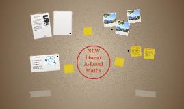 NEW Linear A Level Maths