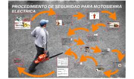 PROCEDIMIENTO DE SUGURIDAD PARA MOTOSIERRA ELECTRICA