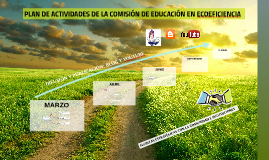 PLAN DE ACTIVIDADES DE LA COMISIÓN DE EDUCACIÓN EN ECOEFICIE