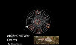 Major Civil War Events