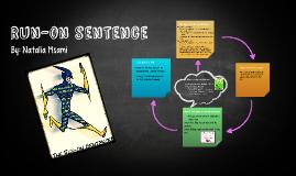 Run-on sentence