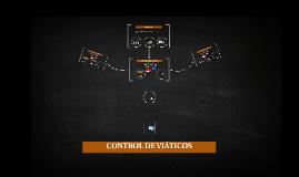 CONTROL DE VIÁTICOS