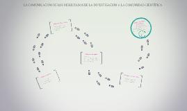 LA COMUNICACIÓN DE LOS RESULTADOS DE LA INVESTIGACIÓN