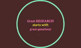 Great RESEARCH starts with