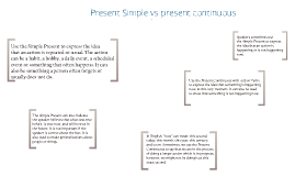 Copy of Present Simple vs. present continuous