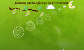 Camping and its Affects on the Environment