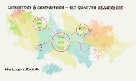 Literature & Composition - 1st Quarter Bellringers