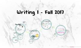 Writing 1 - Fall 2017