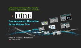 Funcionamiento Alternativo de los Motores Otto