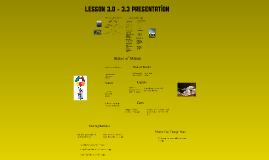 Lesson 3.0 - 3.1