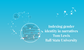 Indexing gender identity in narratives