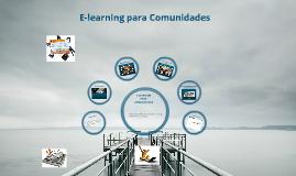 E-learning para comunidades