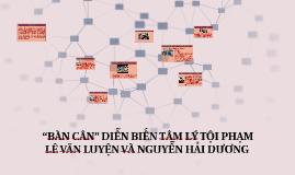 """""""BÀN CÂN"""" DIỄN BIẾN TÂM LÝ TỘI PHẠM LÊ VĂN LUYỆN VÀ NGUYỄN"""