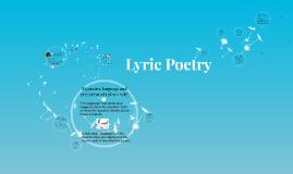 Copy of Lyric Poetry