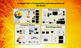 Geology Unit 2: composition and interactions of the Earth