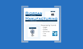 potential bottlenecks in the riordan manufacturing process & aquilano the current process for riordan is the use of plastic polymers to create molds of individual parts required by electric fans space inventory and money riordan will be able to eliminate bottlenecks within inventory.