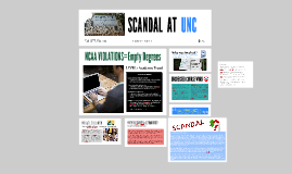 SCANDAL AT UNC