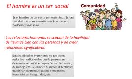¿ por que el ser humano es un ser social ?