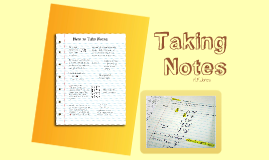 Copy of Taking Notes
