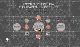 IMPORTANCIA DE UNA publication EN INTERNET